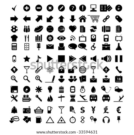 universal web icons - stock vector