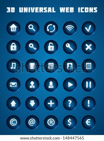 Universal Web Icons. Vector Set. - stock vector