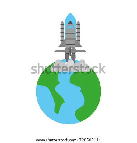 universe planet earth rocket launch space
