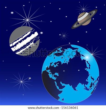 universe  vector terra globe - stock vector