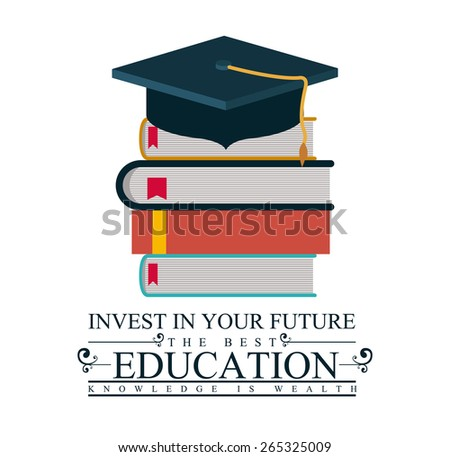 University and Graduation design over white background, vector illustration - stock vector