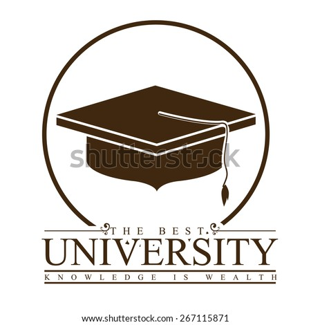 University and Graduation design over white background, vector illustration - stock vector