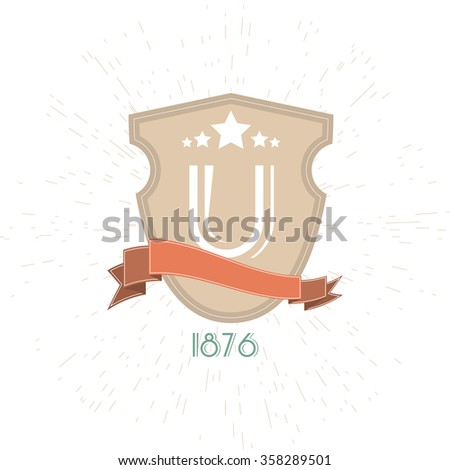 University Emblem Isolated On White Background.Graphic Design Editable For Your Design. University and college school crests.High School and congratulations graduate logo.  - stock vector