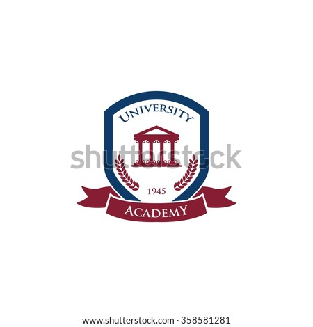University Logo Template - stock vector