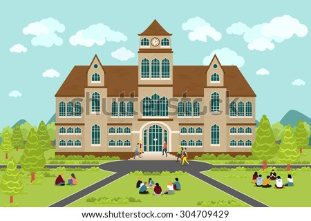 University stock photos royalty free images vectors for College building design