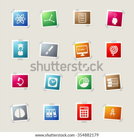 University simply card icons for web