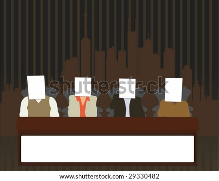 Unknown Group of Businessmen Have a Meeting - stock vector