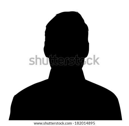 Unknown male person illustration - stock vector