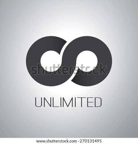 Unlimited Symbol, Icon or Logo Design - stock vector