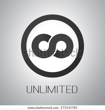 Unlimited Symbol, Icon or Logo Design - stock vector
