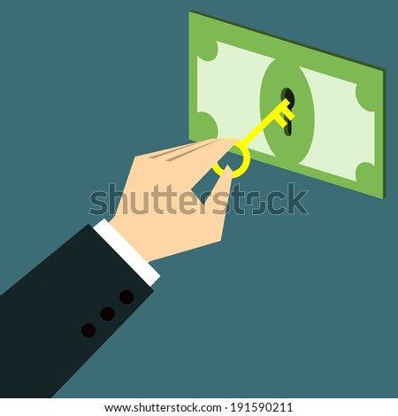 Unlock banknote - stock vector