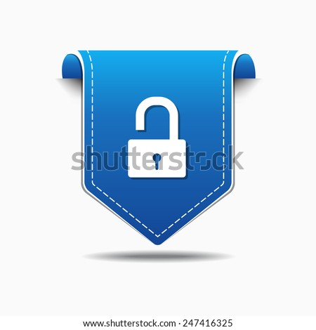 Unlock blue Vector Icon Design