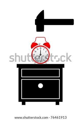 Unpleasant morning - stock vector