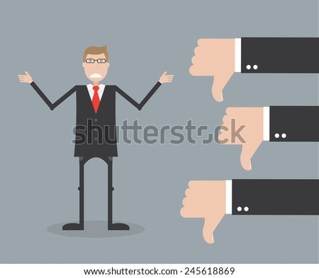 Unsuccessful businessman - stock vector