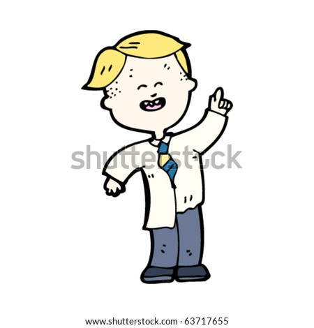 cartoon school kid