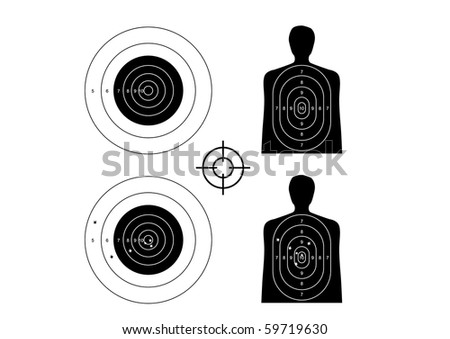 unused and set the targets - illustration - stock vector