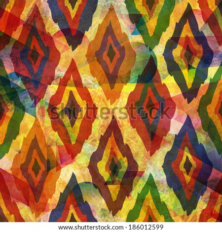 unusual colorful geometric abstract pattern - stock vector