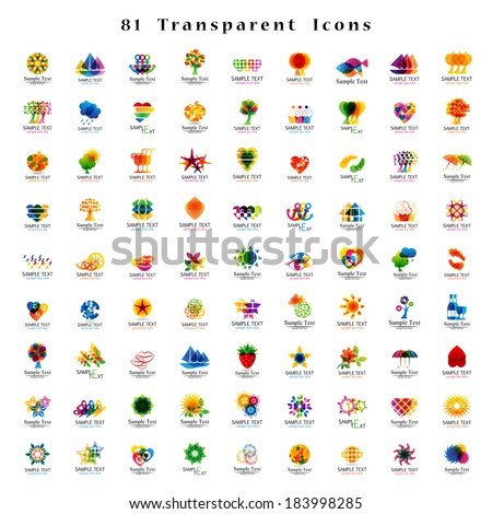 Unusual Icons Set - Isolated On White Background - Vector Illustration, Graphic Design Editable For Your Design. New Icons - stock vector