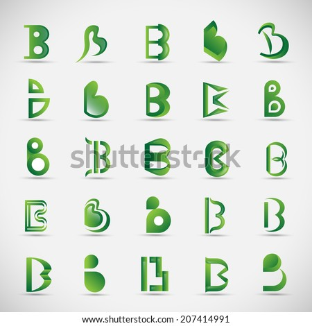 Unusual Letters Set - Isolated On Gray Background - Vector Illustration, Graphic Design Editable For Your Design - stock vector
