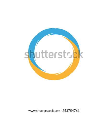 Unusual logo pointing to cycle of matter in nature - stock vector