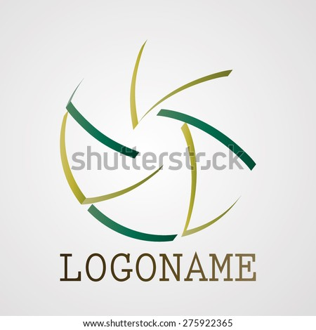 Unusual Modern Logo Design or Business Icon.  Modern Strips Icon. Info graphic Element. - stock vector