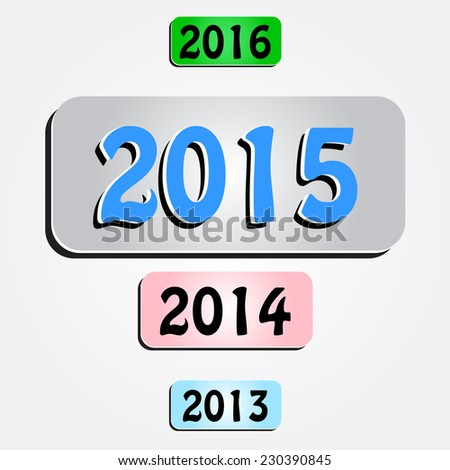 Unusual 2015 new year infographic background. Eps10 - stock vector