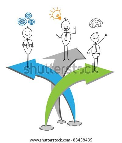 up chart businessman - stock vector