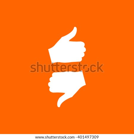 up like, down unlike icon stock vector illustration