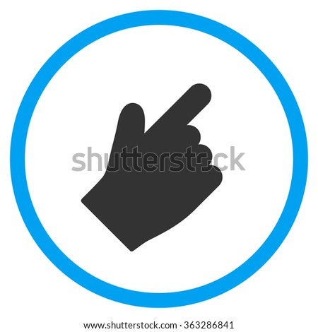 Up Right Index Finger Icon - stock vector
