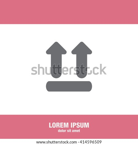 UP side transport vector icon - stock vector