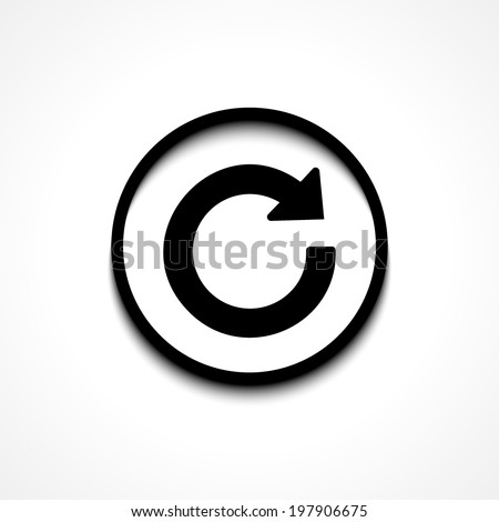 Update icon in flat style. Refresh symbol - stock vector