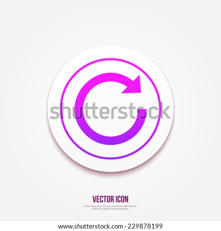 Update icon. Refresh symbol - stock vector