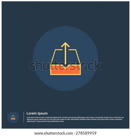 Upload archive icon, vector illustration. Flat color design style - stock vector