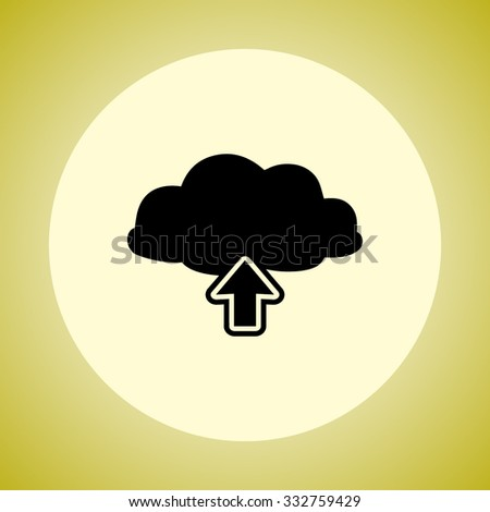 Upload from cloud sign icon, vector illustration. Flat design style