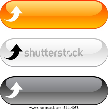 Upload glossy buttons. Three color version.