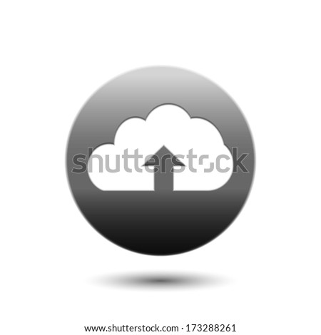 Upload icon cloud - stock vector