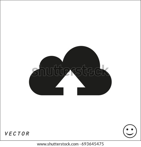 upload on cloud vector icon