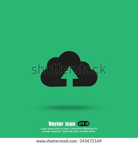 uploading vector icon - stock vector