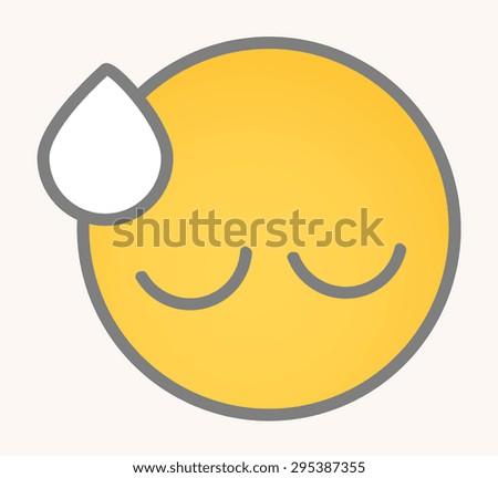 Upset - Cartoon Smiley Vector Face - stock vector