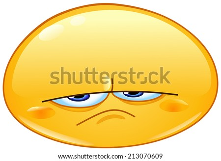 Upset emoticon - stock vector