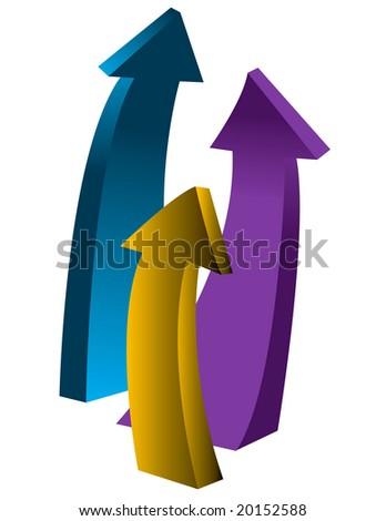 upward arrows - stock vector