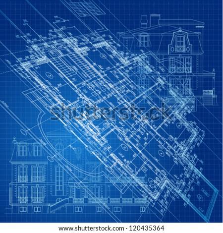 Urban blueprint vector architectural background stock vector hd urban blueprint vector architectural background malvernweather Gallery