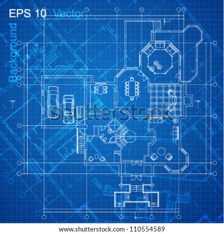 Urban blueprint vector architectural background part vectores en urban blueprint vector architectural background part of architectural project architectural plan malvernweather Gallery