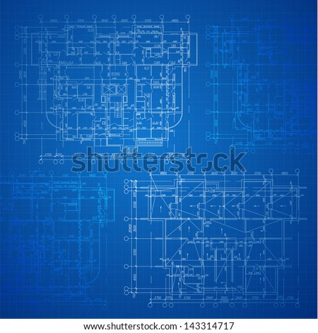 Urban blueprint vector architectural background part vectores en urban blueprint vector architectural background part of architectural project architectural plan malvernweather Images