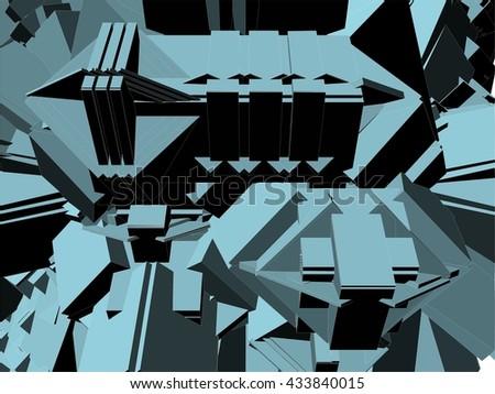 Urban City Base Perspective Vector 333 - stock vector