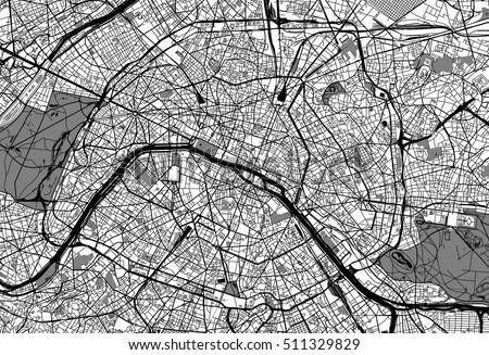 Paris Map Stock Images RoyaltyFree Images Vectors Shutterstock - Paris map outline