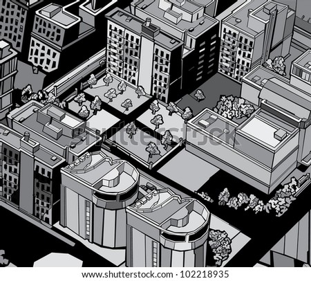 urban city. vector illustration - stock vector