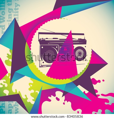 Urban colorful background. Vector illustration. - stock vector