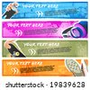 Urban culture grungy backgrounds for the banners or headers. - stock vector