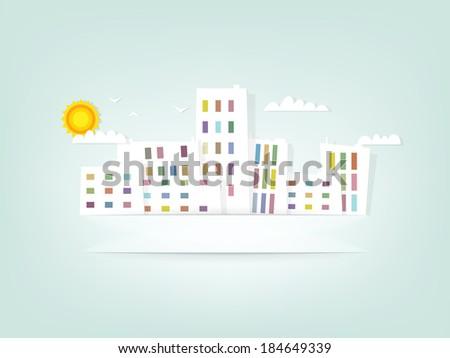 urban landscape banner - stock vector